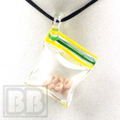 Tammy Baller - Bag of Cheerios Glass Pendant