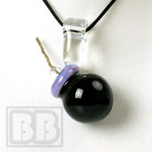 Glass Pav - Large Purple Hempwick Bomb Pendant