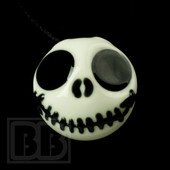 Jedi Glassworks - Smiling Jack Skellington Pendant
