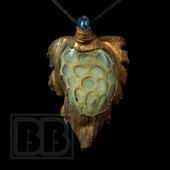 Turtle Glass- Electroform Pendant
