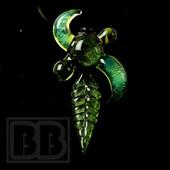 Inner Fire - Green Leaf & Horn Pendant
