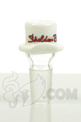 Sheldon Black - 19mm White Derby Slide with Red Signature Logo Detail 1