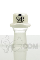 Sheldon Black - 19mm White Derby Dome with SB Logo