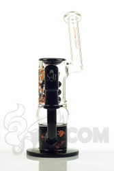 Sheldon Black - Black Short Triple Stack Bubbler with Tightwire Logo Front