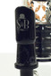 Sheldon Black - Black Short Triple Stack Bubbler with Tightwire Logo Dome
