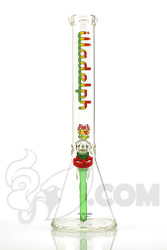 Illadelph Gallery - 5mm Short Beaker with Rasta Label Front