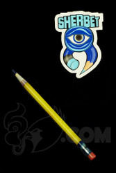 Sherbet Glass - Glass Pencil Dabber Yellow Shade Citrus with Blue Tip