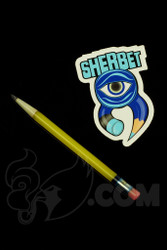 Sherbet Glass - Glass Pencil Dabber Yellow Shade Citrus with Grey Tip