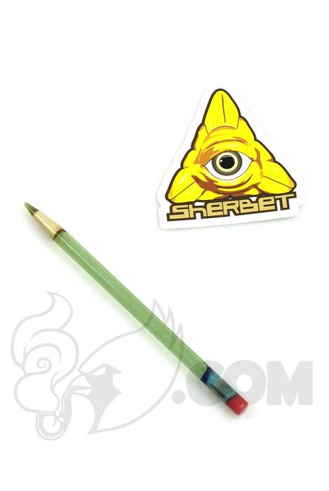 Sherbet Glass - Mini Light Green Glass Pencil Dabber with Green Tip