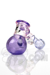 Illadelph - Purple Hammer Hand Pipe with Flower Facet and Black Label Front