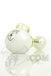 Illadelph - White and Slyme Spoon Hand Pipe with White Label Front