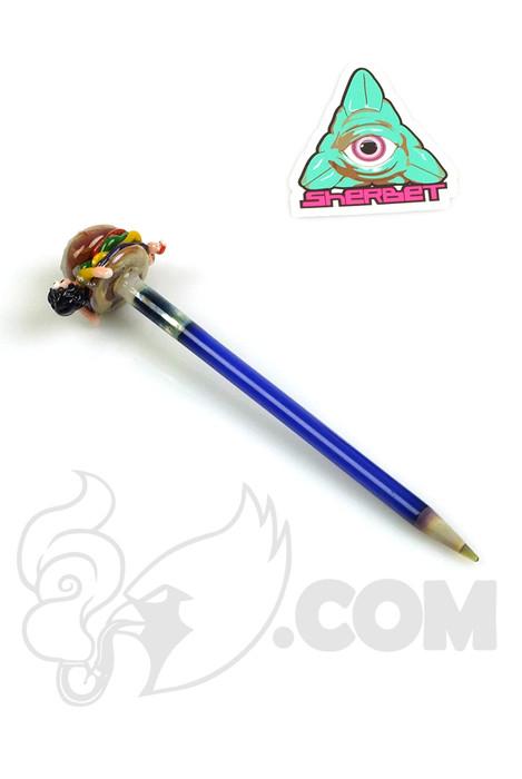Sherbet Glass x Tammy Baller - Bob's Burgers Blue Glass Pencil Dabber
