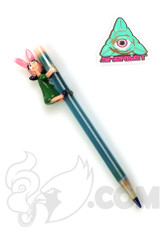 Sherbet Glass x Tammy Baller - Bob's Burgers Blue Glass Pencil Dabber (Louise)