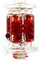Illadelph x JM Flow Sci Glass - Detachable Red Triple Coil Collab Coil Back