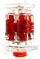 Illadelph x JM Flow Sci Glass - Detachable Red Triple Coil Collab Coil Front