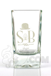 Sheldon Black - Shot Glass with White Label