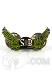 Sheldon Black - Green Winged Derby Hat Pin