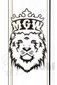 Manifest Glassworks - Straight Black Double Cirq with White Lion Logo