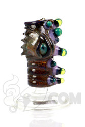 Salt - 14mm Female Brown, Purple, Slyme Dome Front