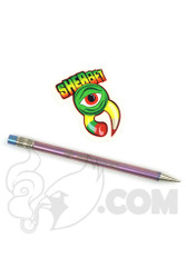 Sherbet Glass - Thin Purple Titanium Pencil