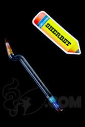 Sherbet Glass - Bent Lucy Glass Pencil Dabber