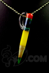 Sherbet Glass - Pendant Glass Yellow Pencil Dabber