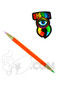 Sherbet Glass - Double Ended Orange Glass Pencil Dabber