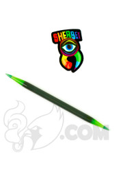Sherbet Glass - Double Ended Grey and Slyme Glass Pencil Dabber