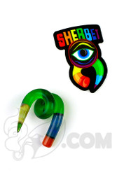 Sherbet Glass - Swirl Green Glass Pencil Dabber