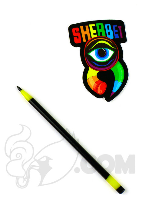 Sherbet Glass - Mini Black and Yellow Glass Pencil Dabber