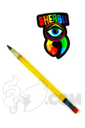 Sherbet Glass - Mini Yellow Glass Pencil Dabber with Brown Tip