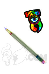 Sherbet Glass - Glass Pencil Dabber Grey with Purple Tip