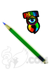 Sherbet Glass - Glass Pencil Dabber UV Green Sparkle with Blue Tip