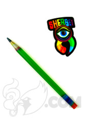 Sherbet Glass - Glass Pencil Dabber UV Green Sparkle with Sparkle Tip