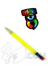 Sherbet Glass - Glass Pencil Dabber Yellow Shade Citrus with Lucy Tip