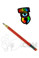 Sherbet Glass - Glass Pencil Dabber Red with Grey Tip