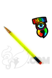 Sherbet Glass - Glass Pencil Dabber Transparent Yellow Shade Citrus with UV Tip