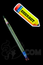 Sherbet Glass - Glass Pencil Dabber UV Nova with Green Tip