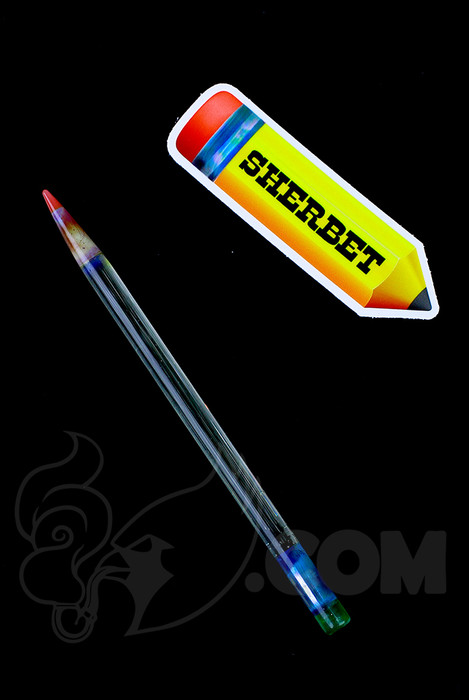 Sherbet Glass - Glass Pencil Dabber UV Nova with Red Tip