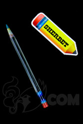 Sherbet Glass - Glass Pencil Dabber UV Nova with Teal Tip