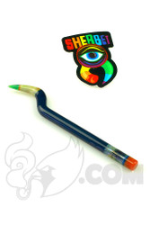 Sherbet Glass - Bent Dark Blue Glass Pencil Dabber
