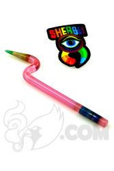 Sherbet Glass - Bent Pink Slyme Glass Pencil Dabber