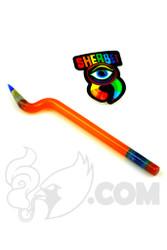 Sherbet Glass - Bent Orange Shade Citrus Glass Pencil Dabber