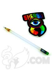 Sherbet Glass - Mini Lunar Rays Glass Pencil Dabber with Green Eraser