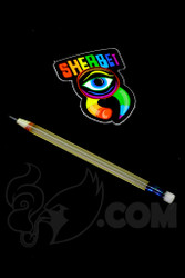 Sherbet Glass - Mini UV Peach Glass Pencil Dabber with Lucy Eraser