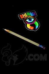 Sherbet Glass - Mini UV Peach Glass Pencil Dabber with Ruby Eraser