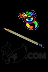 Sherbet Glass - Mini UV Peach Glass Pencil Dabber with Ruby Eraser