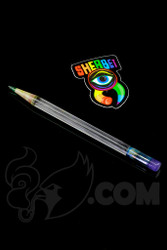 Sherbet Glass - Glass Pencil Dabber UV BluV with Purple Eraser