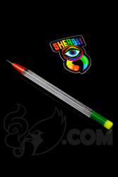 Sherbet Glass - Glass Pencil Dabber UV BluV with Rasta Accents