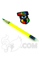 Sherbet Glass - Glass Pencil Dabber UV Illuminati with Green Tip